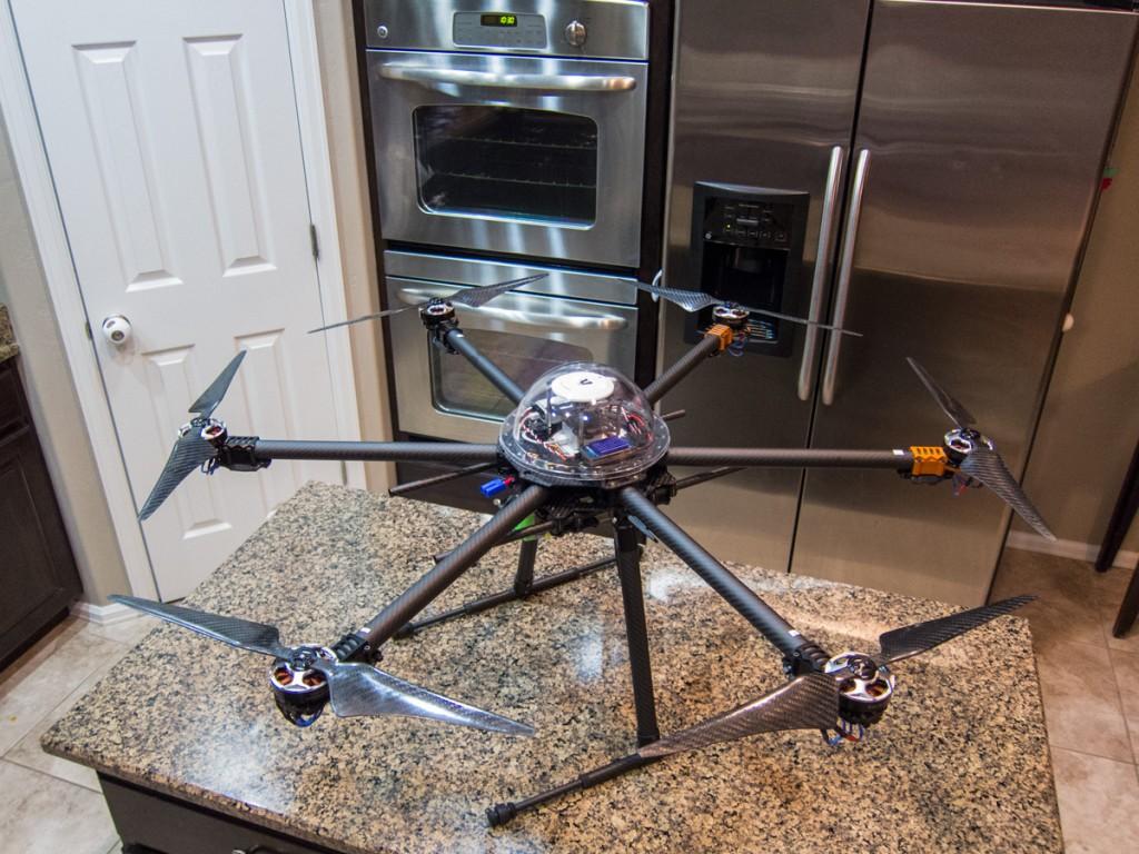 Hexacopter joins us for breakfast...