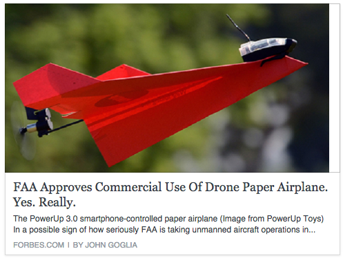 forbes drone paper airplane