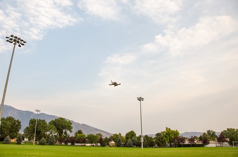 Speed flying at the soccer fields...