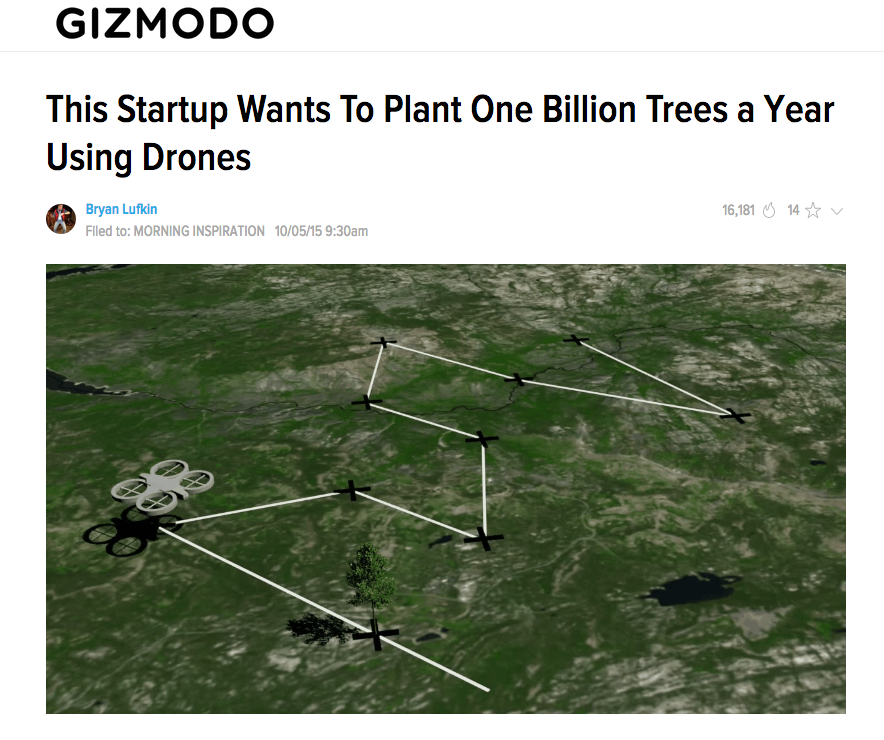Drones planting trees